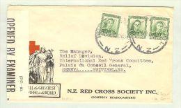 OZ Neuseeland 1942-02-20 Zensurbrief Nach Genf CH - 1907-1947 Dominion