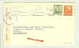OZ Neuseeland 1942-01-15 Zensurbrief Nach Genf CH - 1907-1947 Dominion