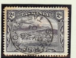 OZ Australien Tasmanien 1899 M#63 Gest (Perfin) Rücks. Firmenaufdruck - 1853-1912 Tasmania