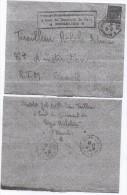 F.M. N° 11 - Vert - Sur Lettre - Franchise Militaire (timbres)