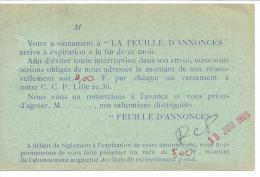 CP...TARIF IMPRIME 1967...MARIANNE DE CHIFFERT 1536A ...SUR REPIQUAGE .LA FEUILLES D'ANNONCES ..be..SCAN - Poststempel (Briefe)