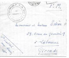 LETTRE -PLI..EN F.M ..CACHET ETAT MAJOR F.T.A 20 ..30/05/1940..MEURTHE ET MOSELLE ..ECRIT D´UN OFFICIER....VOIR SCAN. - Marcophilie (Lettres)