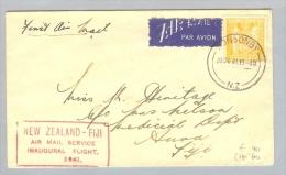 OZ Neuseeland 1941-10-20 Erstflug Nach Fiji - 1907-1947 Dominion