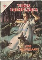 12168 MAGAZINE REVISTA MEXICANAS COMIC VIDAS EJEMPLARES SAN COLUMBANO Nº 52 AÑO 1958 ED ER NOVARO - Bücher, Zeitschriften, Comics