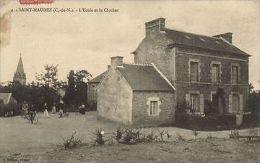CPA Saint-Maudez - L'Ecole Et Le Clocher (103477) - France