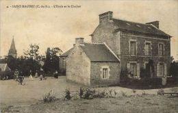 CPA Saint-Maudez - L'Ecole Et Le Clocher (103457) - France