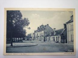 DORNES  (Nièvre)  :  La Place   1938 - France