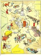 Folklore Auvergne Attelage Boeufs Marrons Chauds Vielle Charbonnage Coutellerie Thiers Littérature Pascal   146Boit - Vieux Papiers