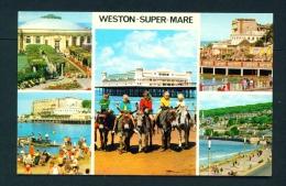 ENGLAND  -  Weston Super Mare  Multi View  Unused Postcard As Scan - Weston-Super-Mare