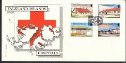 Falklandinseln,   - Mi.N   472 - 475  -   Gestempelt   Krankenhäuser Und Pflegeheime - Falklandinseln
