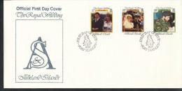 Falklandinseln,    FDC   - Mi.Nr. 457 - 459     Hochzeit Von Prinz Andrew Und Sarah Ferguson - Falklandinseln