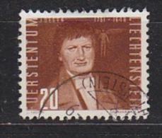 Liechtenstein 1950 Airmzil 20Rp Rotbraun Used (Mi 259b)  (22769) - Luchtpostzegels