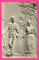 Monument - Au Revoir - Couple - G.L. & Co - Serie 170 - SUIS III - 1902 - Précurseur - Dos Simple - Monumenti