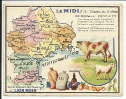 LE MIDI , A L' Ouest Du Rhône , Edition Spéciale Des PRODUITS Du LION NOIR , N°1 - Géographie