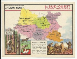 LE SUD OUEST , Partie Méridionale , Edition Spéciale Des PRODUITS Du LION NOIR , N° 2 - Géographie