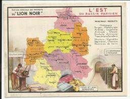 L' EST Du BASSIN PARISIEN , Edition Spéciale Des PRODUITS Du LION NOIR - Géographie