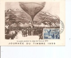 Journ�e du timbre -Si�ge de Paris -1870 ( CM d'Alg�rie de 1955 � voir)
