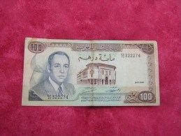 "Billet De 100 Dirhams 1970 - 1390  ""à Circuler"" - Maroc"