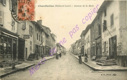 71. CHAUFFAILLES . Avenue De La Gare . CPA Animée . - Otros Municipios