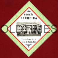 PORTUGAL - FAMALICAO - PENSAO FERREIRA - HOTEL ADV. LABEL - Hotel Labels