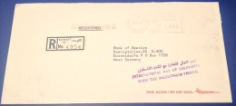 Kuwait 1979 International Day Palestine Registered Cover to Germany Meter Franked