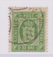 Danemark // N 10 B  //  32 Ore Vert // Oblitéré  //  Côte 45 € - Port Dû (Taxe)