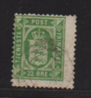 Danemark // N 10 B  //  32 Ore Vert // Oblitéré  //  Côte 45 € - Portomarken