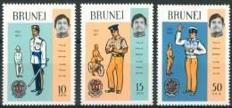 1971 Brunei 50°Anniversario Della Polizia Reale Set MNH** Ul9 - Brunei (1984-...)