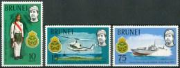 1971 Brunei 10°AnniversariaDel Reggimento Reale Malesedel Brunei Set MNH** Ul9 - Brunei (1984-...)