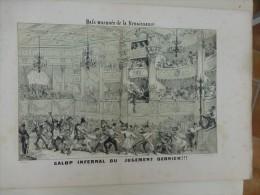 Galop Infernal Du Jugement Dernier, Gravure Vers 1840  ; Ref 362  G15 - Estampes & Gravures