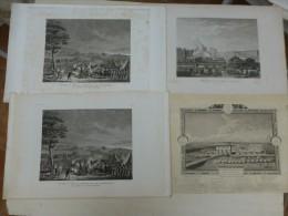 Révolution Française, Lot De 4 Eau-fortes Originales Vers 1830? ,  ; Ref 372  G15 - Estampes & Gravures