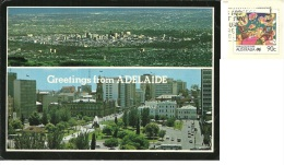 AUSTRALIA  ADELAIDE   Greatings From..   Nice Stamp Living Together - Adelaide