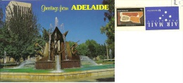 AUSTRALIA  ADELAIDE  Victoria Square Fountain  Nice Stamp - Adelaide