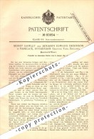 Original Patent - S. Hawley Und B.E. Dickinson In Parkgate , Rotherham , 1891 , Jar Opener !!! - Angleterre