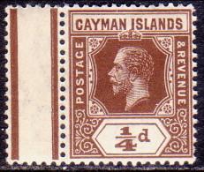 Cayman Islands 1913 SG #40 ¼d MNH With Gutter Margin! - Cayman Islands