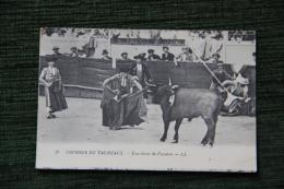 Courses De Taureaux - Une Chute De Picador - Corrida
