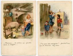 #2245R - Lot 2 CPA Poulbot - Ligue Nationale Contre Le Taudis - Poulbot, F.