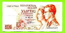 Begië. Biljet 50 Frank.  Koninkrijk België Vijftig Frank. Royaume De Belgique Cinquante Francs. - Andere