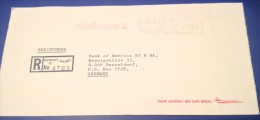 Kuwait Registered Cover 1979 to Germany Meter Franked