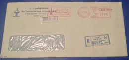 Kuwait Registered Cover 1979  Meter Franked The Commercial Bank of Kuwait