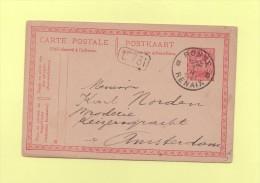 Ronse - Renaix - B - 1921 - Destination Amsterdam - Covers & Documents