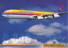 AIR JAMAICA - A-340 (Official Postcard Published By The Air Company) - Aviación