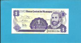 NICARAGUA - 1 Centavo - ND ( 1991 )  - P 167 - UNC. - Serie A/B - 2 Scans - Nicaragua