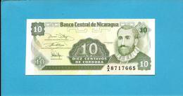 NICARAGUA - 10 Centavos - ND ( 1991 )  - P 169 - UNC. - Serie A/A - 2 Scans - Nicaragua