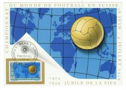 Théme // Sport // Football // Carte Maximum Championat Du Monde  1954 En Suisse (Cachet De La Finale) - 1954 – Schweiz