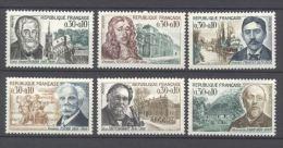 Frankreich, **, 1966, Persönlichkeiten, YT: 1470 - 1475 / Mi; 1536 - 1538, 1553 - 1555 - France