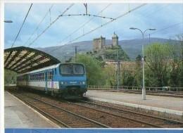 CP Trains - 09 Ariège - Une Z2 Aux Couleurs Midi-Pyrénées En Gare De Foix Cp N° 9 - Foix