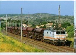 CP Trains - 11 Aude - BB 8122 Passe à Névian En Tète D'un Train De Trémies à Ballast - Cp N° 40 - Other Municipalities