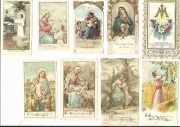 Beau Lot De 9 Images Pieuses Anciennes - Images Religieuses
