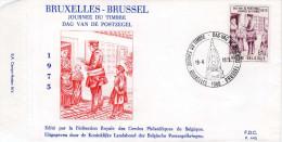 - BELGIQUE - FDC BRUXELLES 19-4-1975 - JOURNEE DU TIMBRE - Facteur de 1840 -